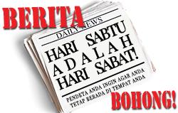 BERITA BOHONG! Hari Sabtu adalah hari Sabat