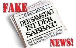 FAKE NEWS! Der Samstag ist der Sabbat