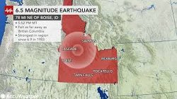 Tuesday's 6.5 earthquake is the strongest to hit Idaho since 1983