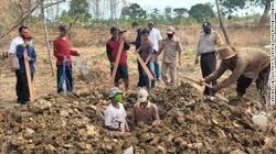 Eight people in Indonesia caught not wearing face masks ordered to dig graves of coronavirus victims