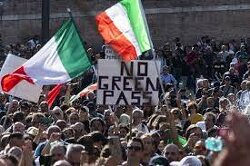 Huge Dock Worker Protests In Italy, Fears Of Disruption, As Covid 'Green Pass' Takes Effect