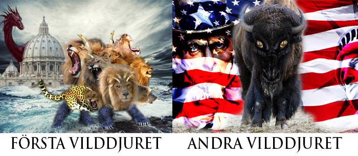 Uppenbarelseboken 13: Första vilddjuret (Rom) och andra vilddjuret (USA)