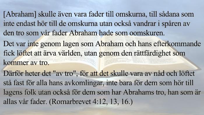 Romarbrevet 4:12, 13, 16