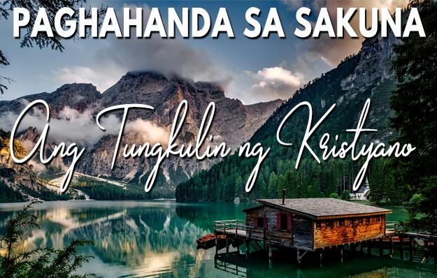 Paghahanda sa Sakuna: Ang Tungkulin ng Kristyano