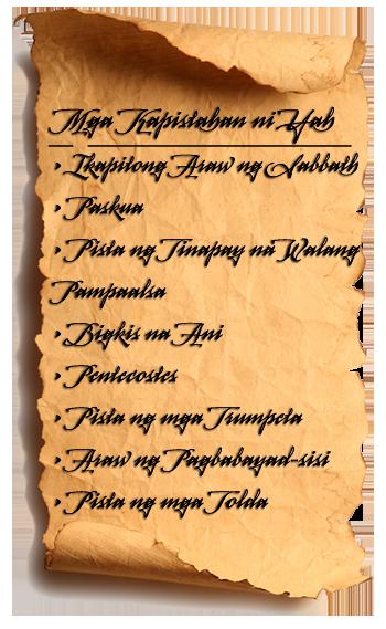 Listahan ng mga Kapistahan sa Levitico 23
